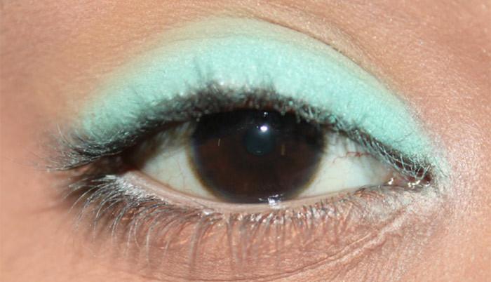 Mint Eye Makeup Look- tutorial (2)