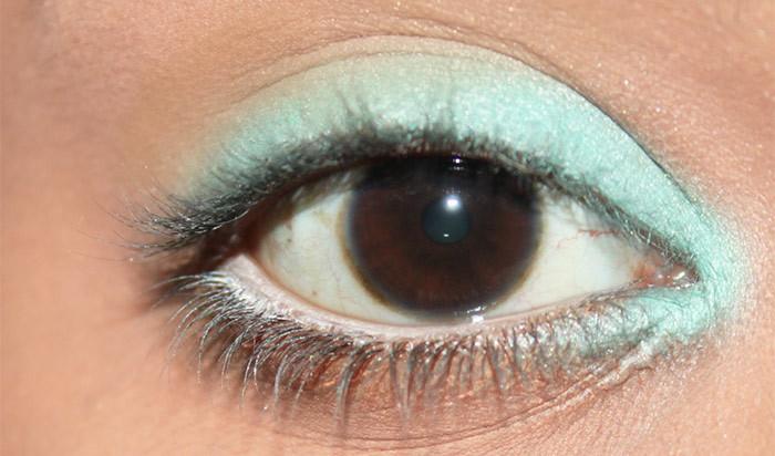 Mint Eye Makeup Look- tutorial (3)