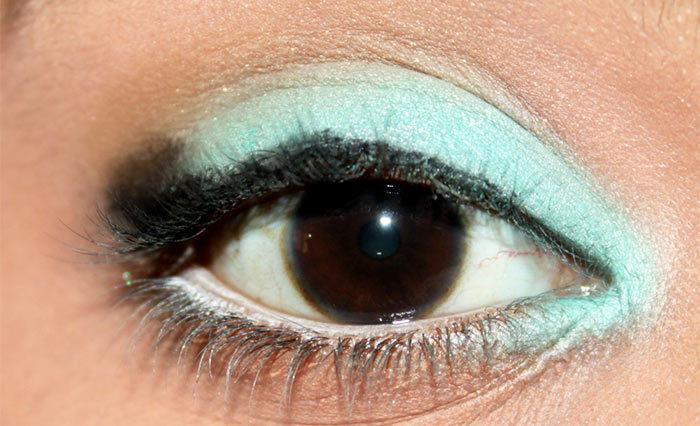 Mint Eye Makeup Look- tutorial (4)