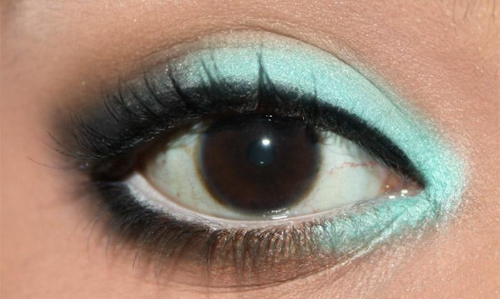 Mint Eye Makeup Look- tutorial (5)