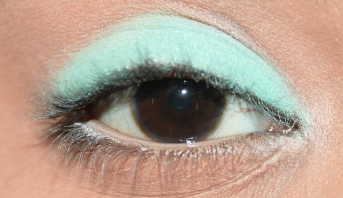 Mint Eye Makeup Look- tutorial
