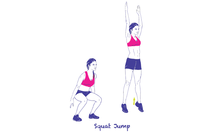 Plyometric Exercises - Squat Jumps