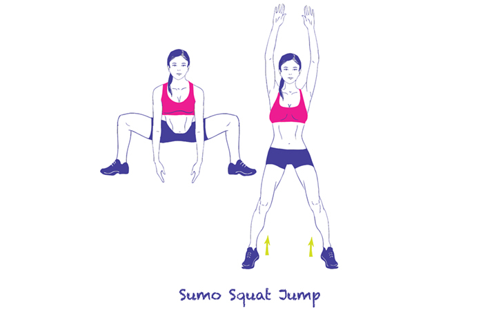 Plyometric Exercises - Sumo Squat Jumps