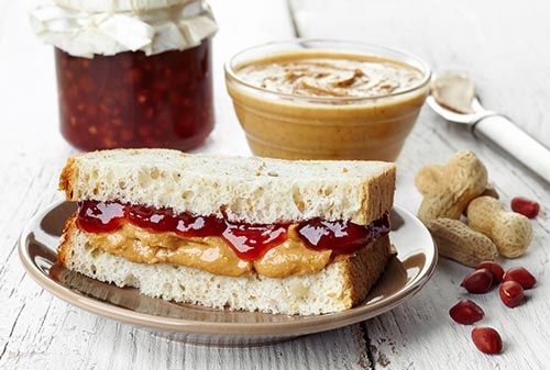 Quick Peanut Butter And Jam Sandwich