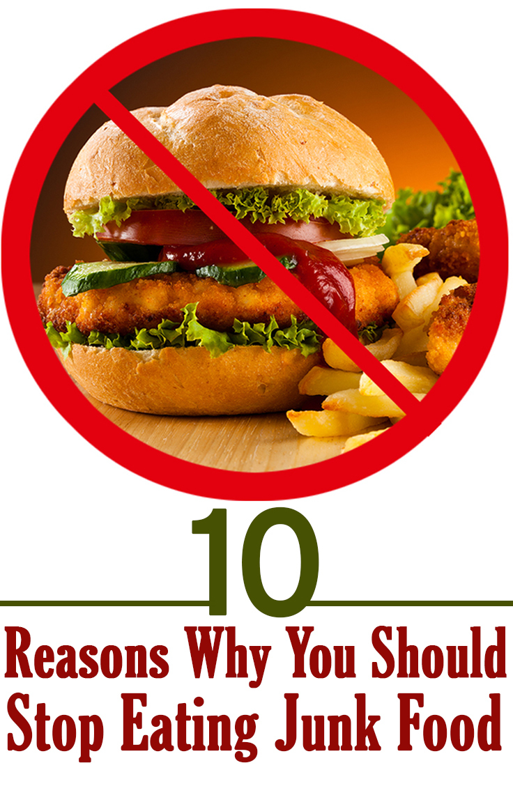 why should stop eating fast food Eating fast food can lead to clogged arteries, high cholesterol, high blood pressure and many other health concerns you could not even think of concluding device: if you are on the road, and want to stop to get a bite to eat, try to protect your health and not eat fast food works cited.