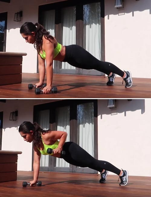 Renegade Rows With Dumbbells