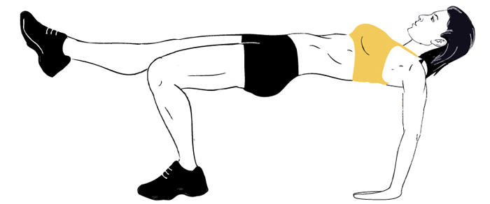 Image result for 6. Glute Bridge