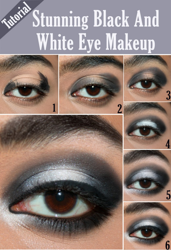Stunning Black And White Eye Makeup Tutorial - Infographic