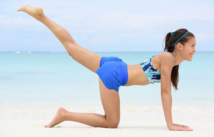 Lower Body Workouts For Women - Glute Kickback