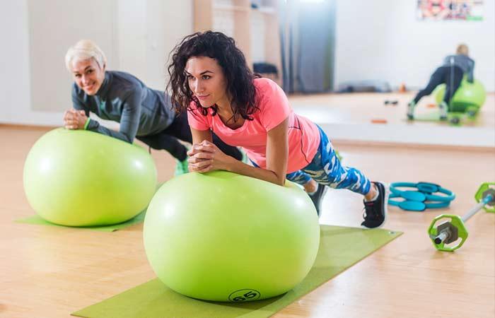 Plank Exercises - Swiss Ball Plank