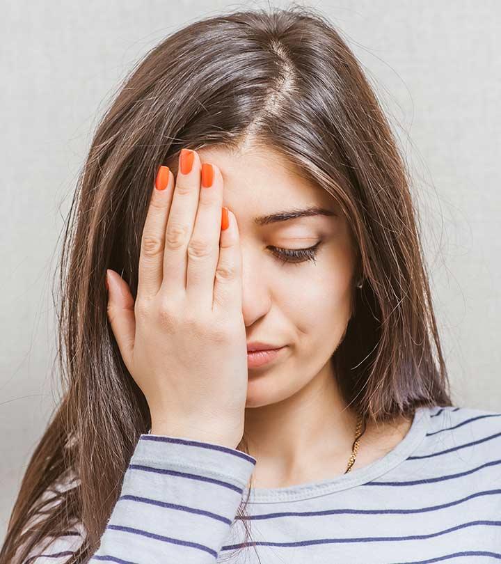 Dry red irritated skin around eyes