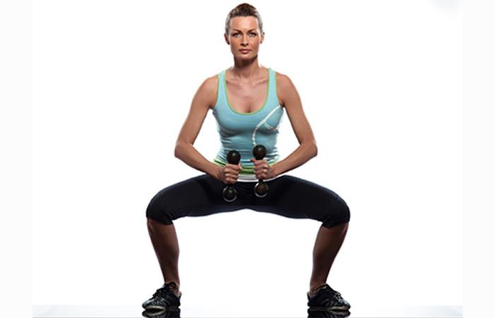 Lower Body Exercises For Women - Plié Squats