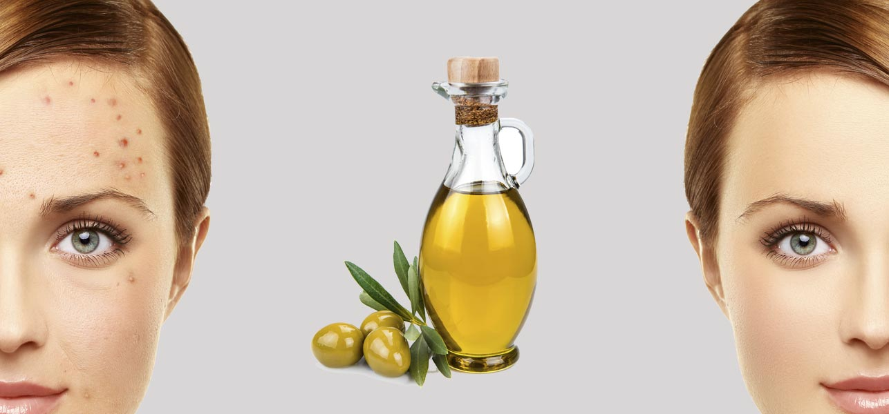 Massage your face with olive oil‬‏