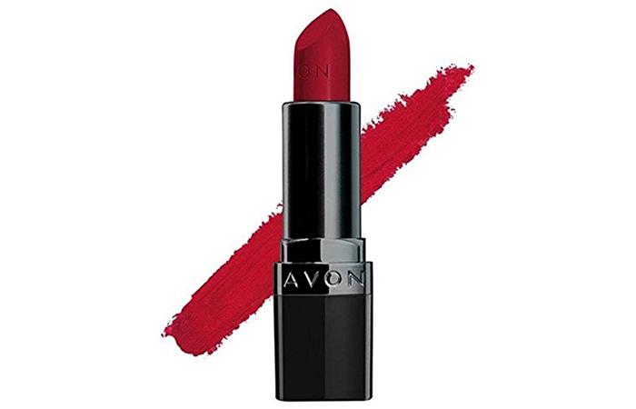 Avon True Color Perfectly Matte Lipstick in Red Supreme