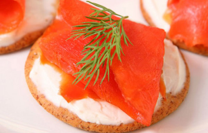 Low Calorie Lunch - Bagel With Lox