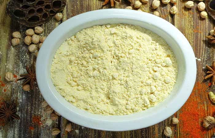 Besan And Turmeric Powder