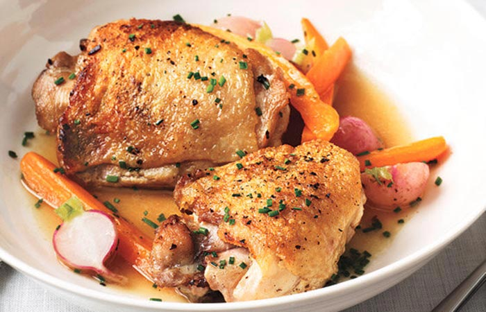 Braised Chicken And Spring Vegetables