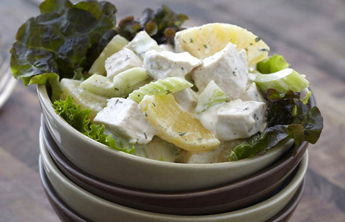 Low Calorie Lunch - Chicken Ranch Salad