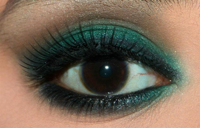 Emerald Eye Makeup Look (7)