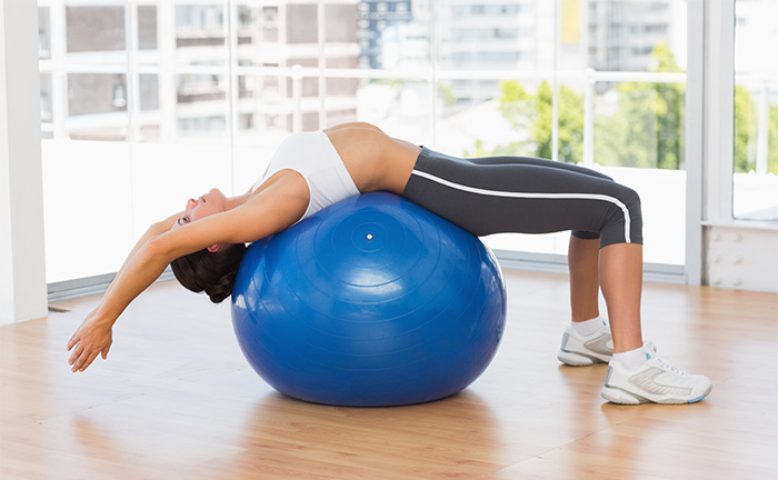 Pilates Exercises To Increase Height - Exercise Ball Stretching