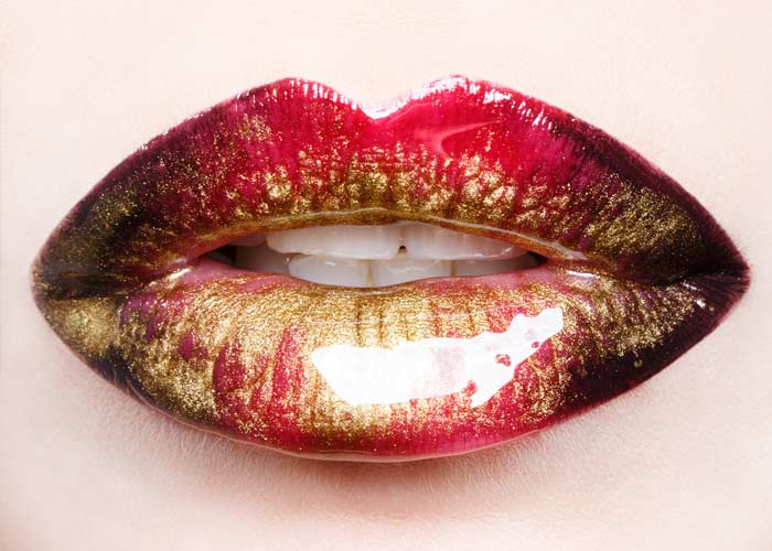 Glittery Lip Art