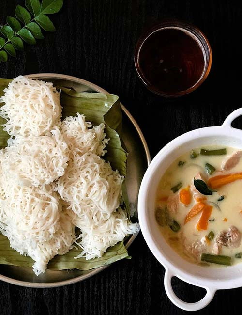 Idiyappam And Stew