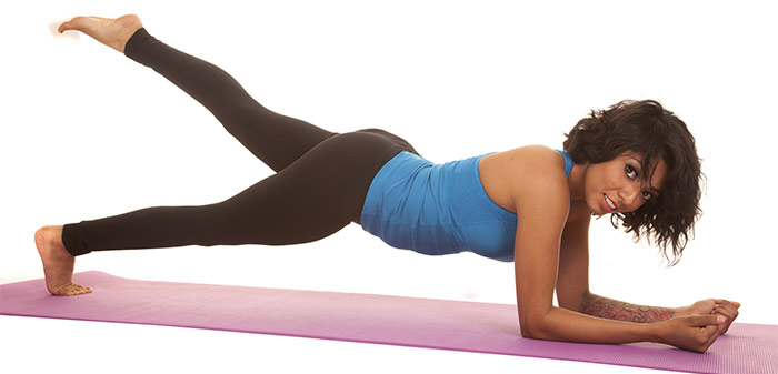 Plank Exercises - Plank With Leg Lift