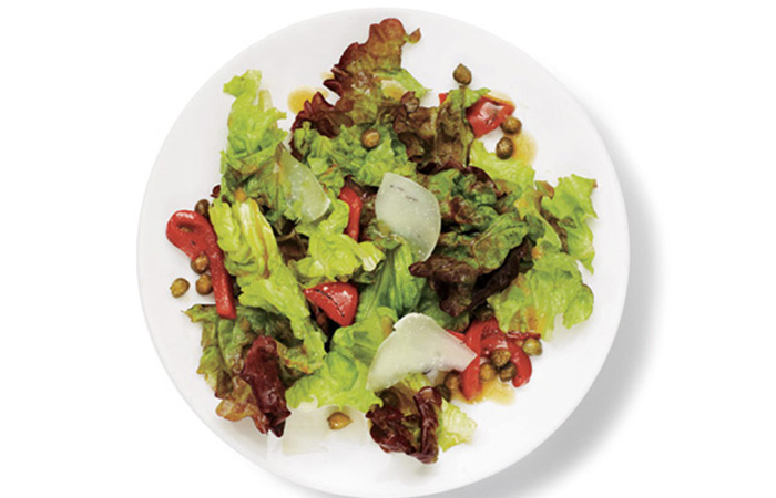 Red Leaf, Roasted Pepper, And Pecorino Salad