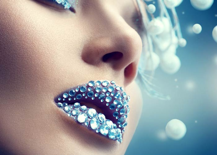 Rhinestone Lip Art