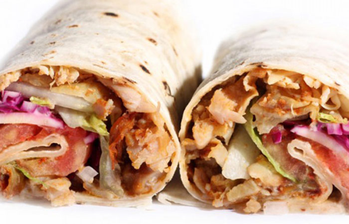 Low Calorie Lunch - Roast Beef Wrap