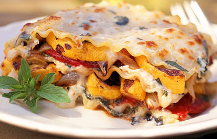 Low Calorie Lunch - Roasted Vegetable Lasagna