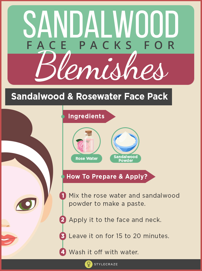 How To Prepare And Apply Sandalwood Face Packs For Blemishes?