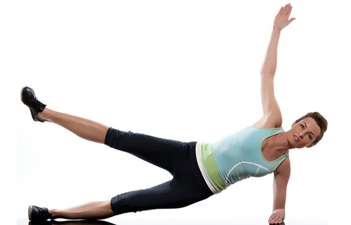 Plank Exercise - Star Forearm Plank