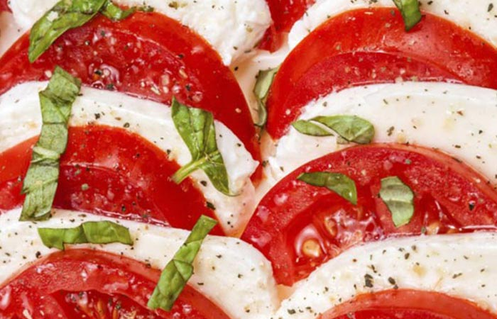 Low Calorie Lunch - Tarragon Caprese Salad