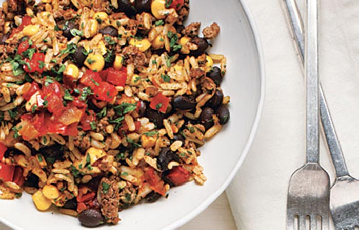 Tex-Mex Black Bean And Rice Bowl