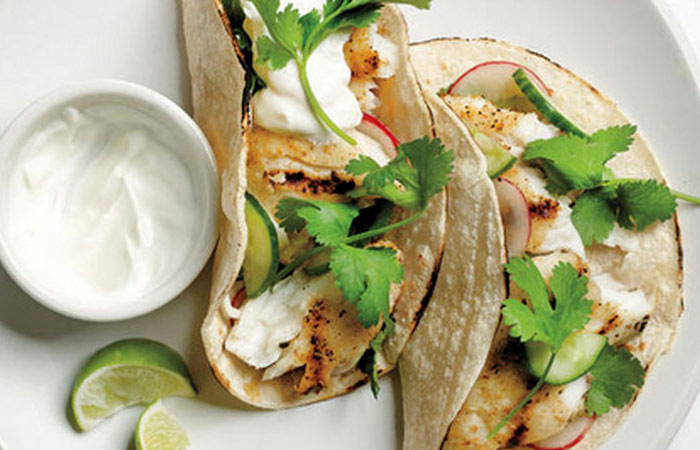 Low Calorie Lunch - Tilapia Tacos With Cucumber Relish