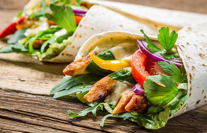 Low Calorie Lunch - Turkey Wrap