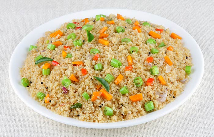 Vegetable Broken Wheat Upma