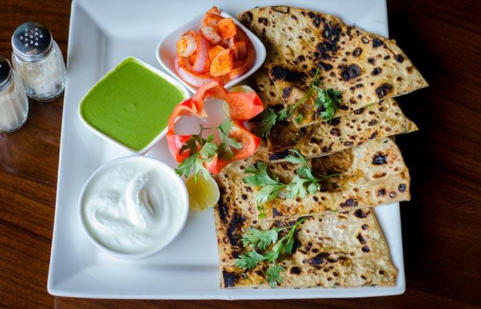 Vegetable Stuffed Paratha