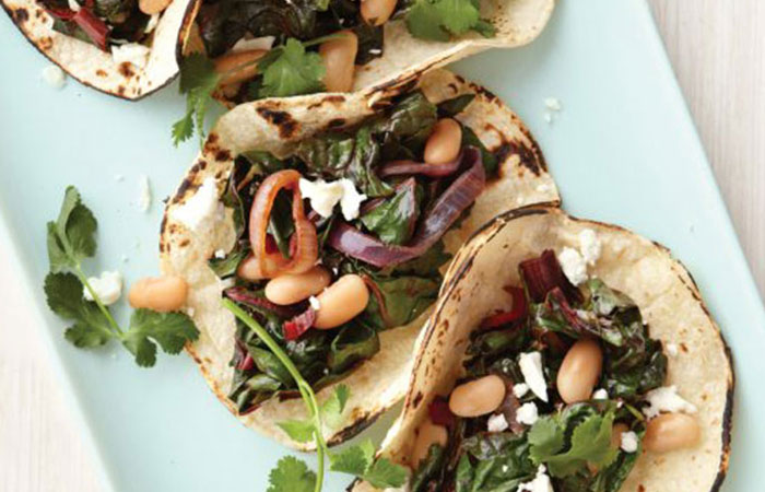 Low Calorie Lunch - Vegetarian Tacos With Goat Cheese
