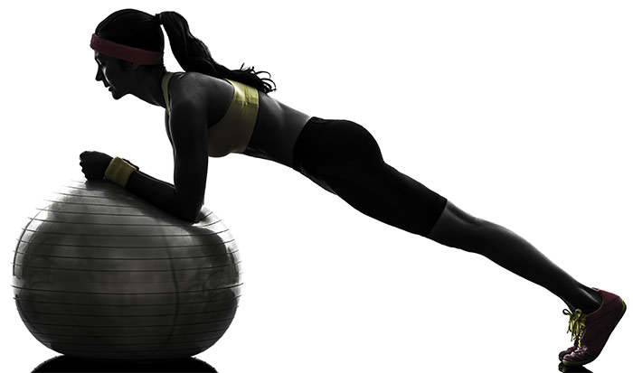 Plank Exercise - Swiss Ball Plank