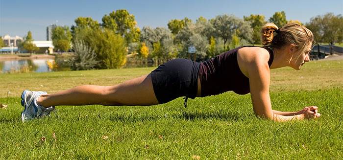 Plank Exercise - Plank Up-Downs
