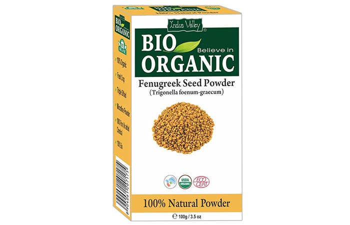 Best Organic Hair Masks - Indus Valley Bio-Organic Fenugreek Seed Powder