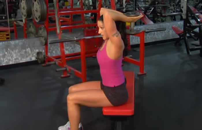 Shoulder Exercises For Women - Overhead Tricep Extensions