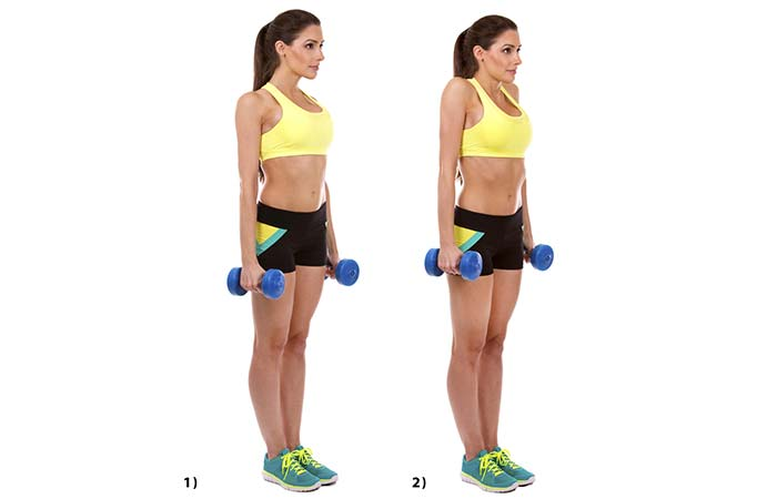 Shoulder Exercises For Women - Shoulder Shrugs