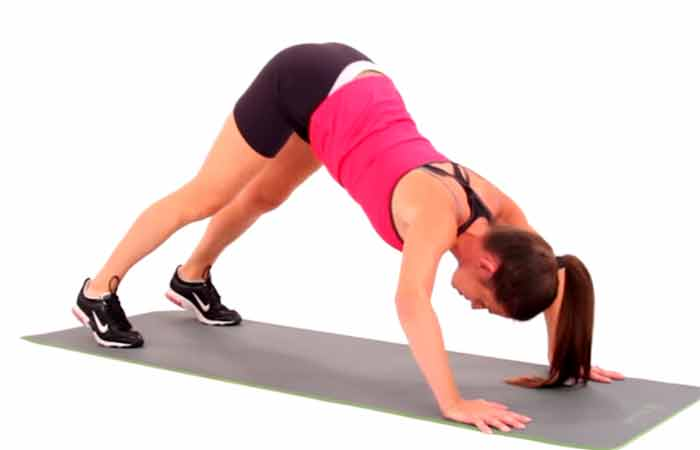 Shoulder Exercises For Women - Pike Push-up