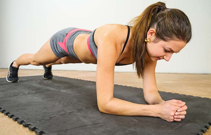Shoulder Exercises For Women - Elbow Plank
