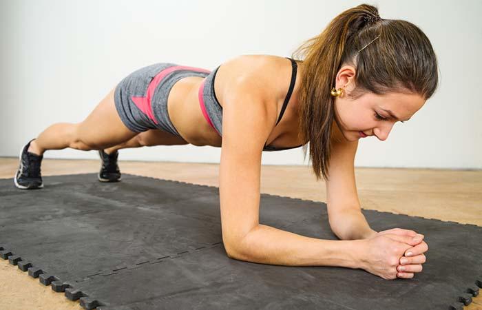 Shoulder Exercises For Women - Elbow Plank