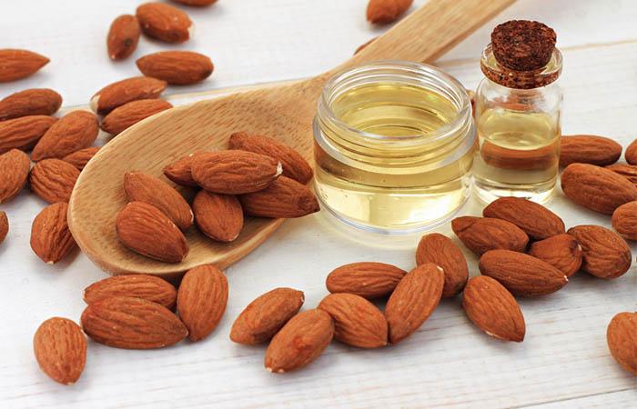 2. Almond Oil For Dark Spots On Lips