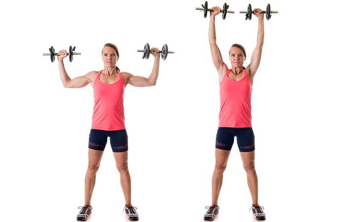 Shoulder Exercises For Women - Standing Shoulder Press